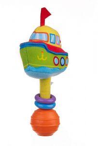 """М'ягка іграшка брязкальце """"Кораблик"""", Balibazoo 80349"""