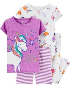 Піжама для дівчинки 1шт. (фіолетова з принтом)