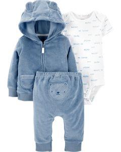 Махровий комплект-трійка для малюка