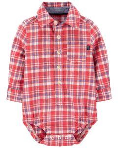 Коттонова сорочка-боді для хлопчика
