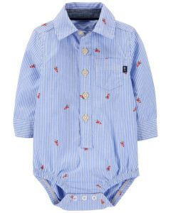 Котонова сорочка-боді для хлопчика
