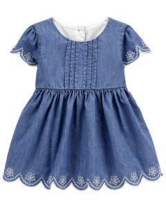 Джинсова сукня і трикотажні трусики для дівчинки