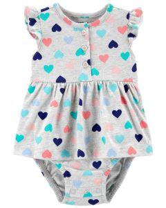 Трикотажне боді-плаття для дівчинки