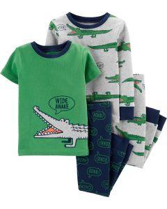Піжама для хлопчика 1шт. (зелена футболка та сині штани)