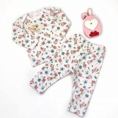 Трикотажна піжама для дівчинки (зайчики/котики), Coolton