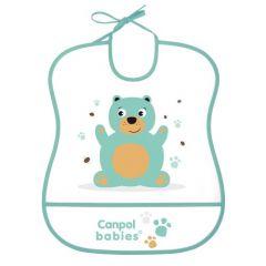 Слинявчик пластиковий м'який, Canpol babies 2/919