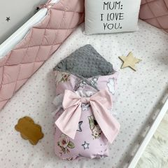 Плед-конверт  (Ляльки на рожевому), Маленька Соня 10500561