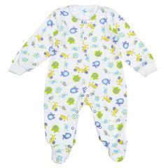 Трикотажний чоловічок для малюка (салатовий/блакитний), Minikin 2010703
