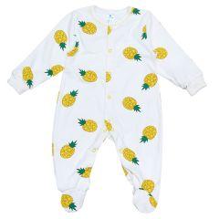 Трикотажний чоловічок для малюка (молочний/ананас), Minikin 2010703