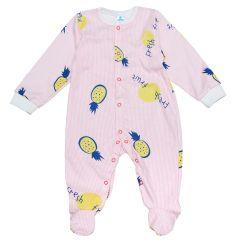 Трикотажний чоловічок для малюка (рожевий/полоска), Minikin 2010703