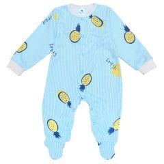 Трикотажний чоловічок для малюка (блакитний/смужка), Minikin 2010703