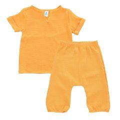 Мусліновий комплект-двійка для дитини (гірчичний), Minikin 2011414