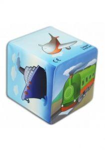 М'який кубик-брязкальце, Canpol babies 2/706 (транспорт)