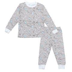 Трикотажна піжама для дитини (сіра), 2015401