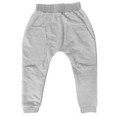 Трикотажні штанята для дитини (сірий меланж), 2015607