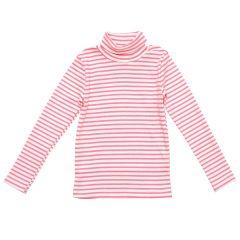 Трикотажний гольф для дівчинки (молочно-рожевий), 2015703