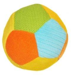 Розвиваюча іграшка м'який м'яч-брязкальце BabyOno 1276 (з жовтим)
