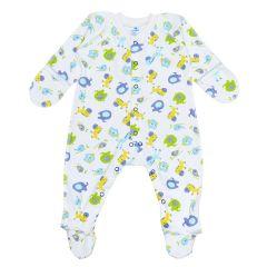 Трикотажний чоловічок для малюка  (салатовий/блакитний), 2010603