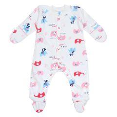 Трикотажний чоловічок для малюка  (молочний/червоний), 2010603