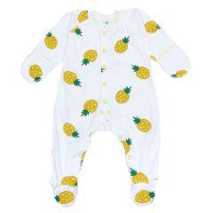 Трикотажний чоловічок для малюка  (молочний/ананас), 2010603