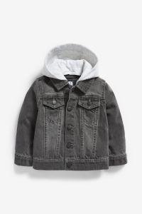 Джинсова куртка з трикотажним капюшоном для дитини