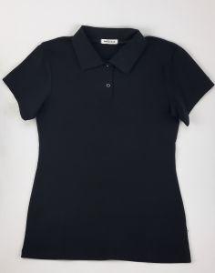Трикотажний футболка-поло для дитини (чорний), 35-1 Mokkibym