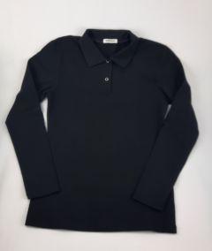 Трикотажний реглан-поло для дитини (чорний), 35 Mokkibym