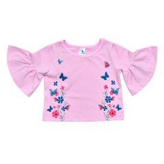 Трикотажна блуза для дівчинки від Minikin (рожева), 203702