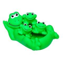 """Набір іграшок для купання """"Сім'я жабок"""", BeBeLino 57091"""