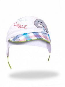 Літня кепка для хлопчика (біла), YoClub CLU-083