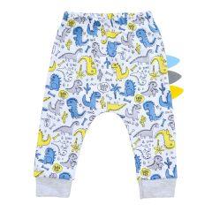 Трикотажні штанята для хлопчика, Minikin 212003 (білі з принтом)
