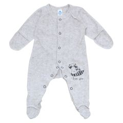Чоловічок з ажурного трикотажу для малюка (сірий меланж), 212205