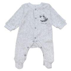 Чоловічок з ажурного трикотажу для малюка (сірий меланж), Minikin 212305