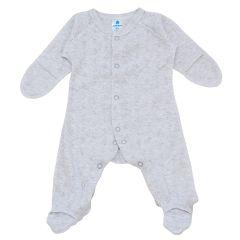 Чоловічок з ажурного трикотажу для малюка (сірий меланж), 2112905