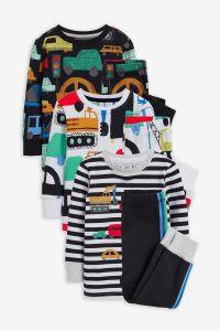 Піжама для дитини 1шт. (реглан у смужку і чорні штани з лампасами)