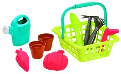 """Кошик садівника """"Гарден"""" з горщиками для квітів, Ecoiffier 004567"""