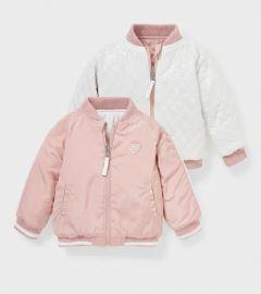 Двостороння куртка для дівчинки