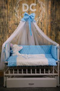 Комплект для ліжечка (синій), БК-051, DC Kids