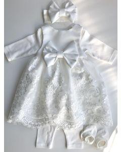 Святковий комплект для дівчинки (молочний), Little Angel 11626