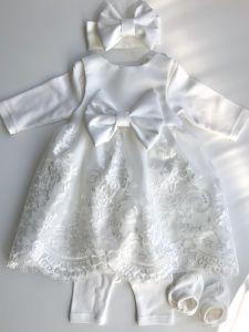 Святковий комплект для дівчинки (білий), Little Angel 11623