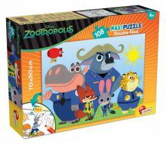 Пазл двосторонній Zootropolis/Зоотрополіс, Maxi 108 шт, 53506, LISCIANI
