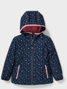 Куртка-дощовик з флісовою підкладкою для дівчинки