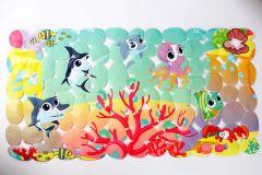 Антислизький килимок для ванни Lindo LN-8666 (морський світ,зелений)