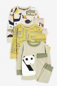 Пижама для мальчика 1 шт. (колір гірчиці, з принтом)