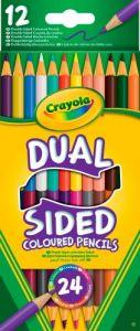 Двосторонні кольорові олівці (12 штук, 24 кольори), Crayola 68-6100