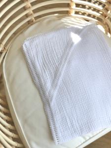 Муслінове крижмо для Хрещення малюка (біле), 11618