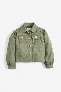 Джинсовая куртка хаки для для девочки