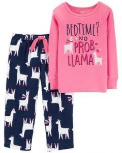 Пижама с флисовыми штанами для девочки