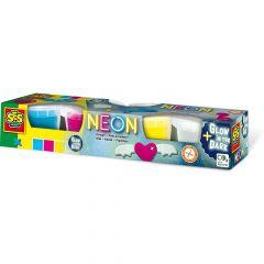 Маса для ліплення Ses Creative Неон 4 кольори не засихає (00461S)