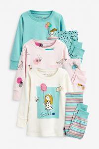 Пижама для ребенка 1шт. (розовая с принтом)